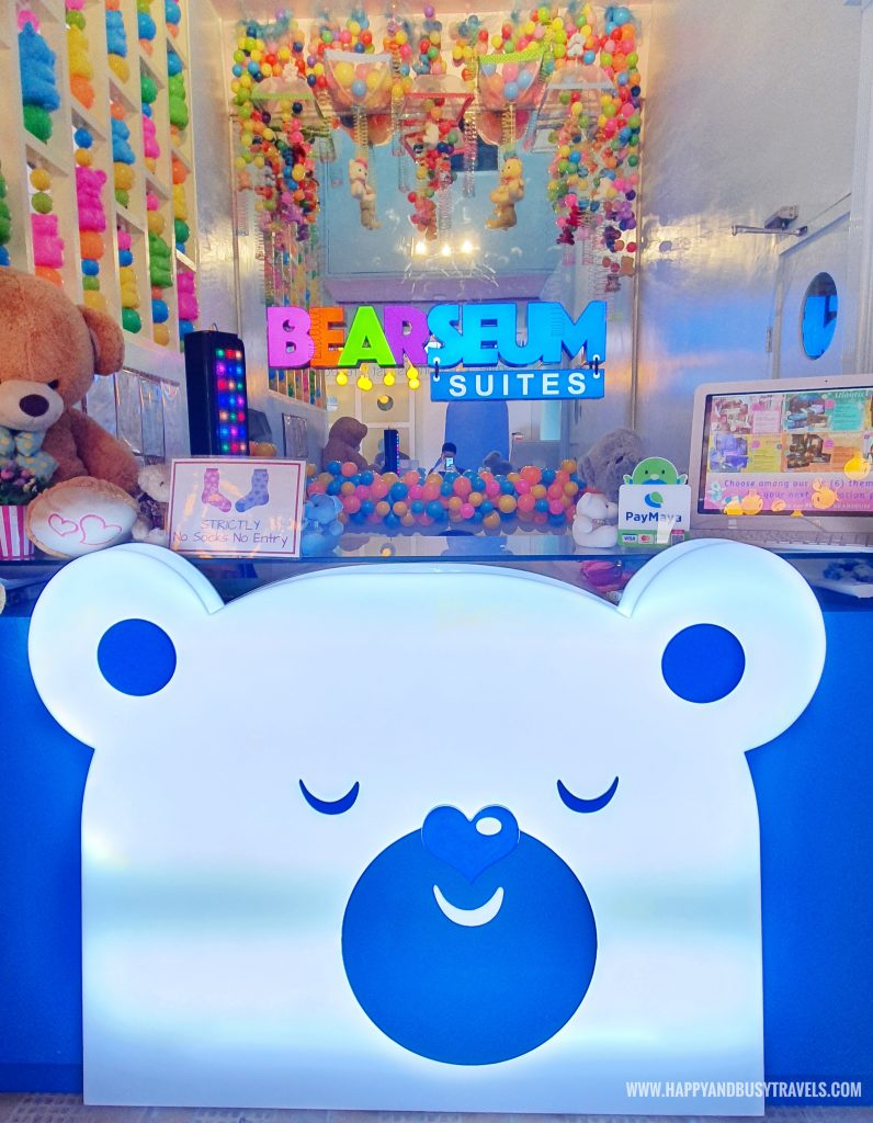 Counter of Bearseum Bear Museum in Tagaytay City Happy and Busy Travels review