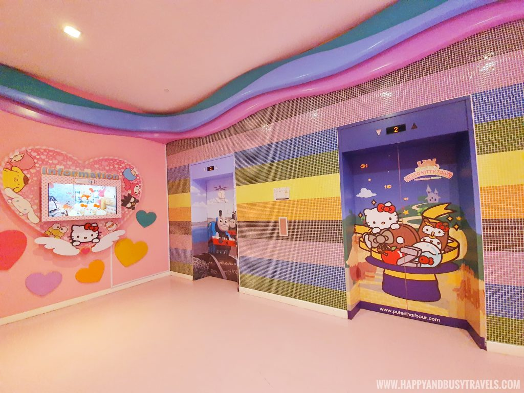 Hello Kitty elevator and walls
