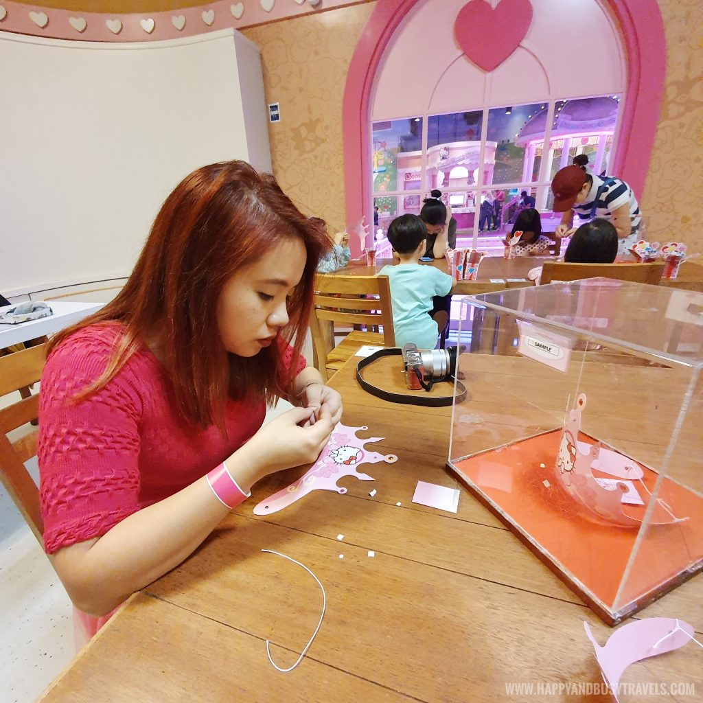 crown making in Wishful Studio in Hello Kitty Town Puteri Harbour Johor Malaysia Happy and Busy Travels