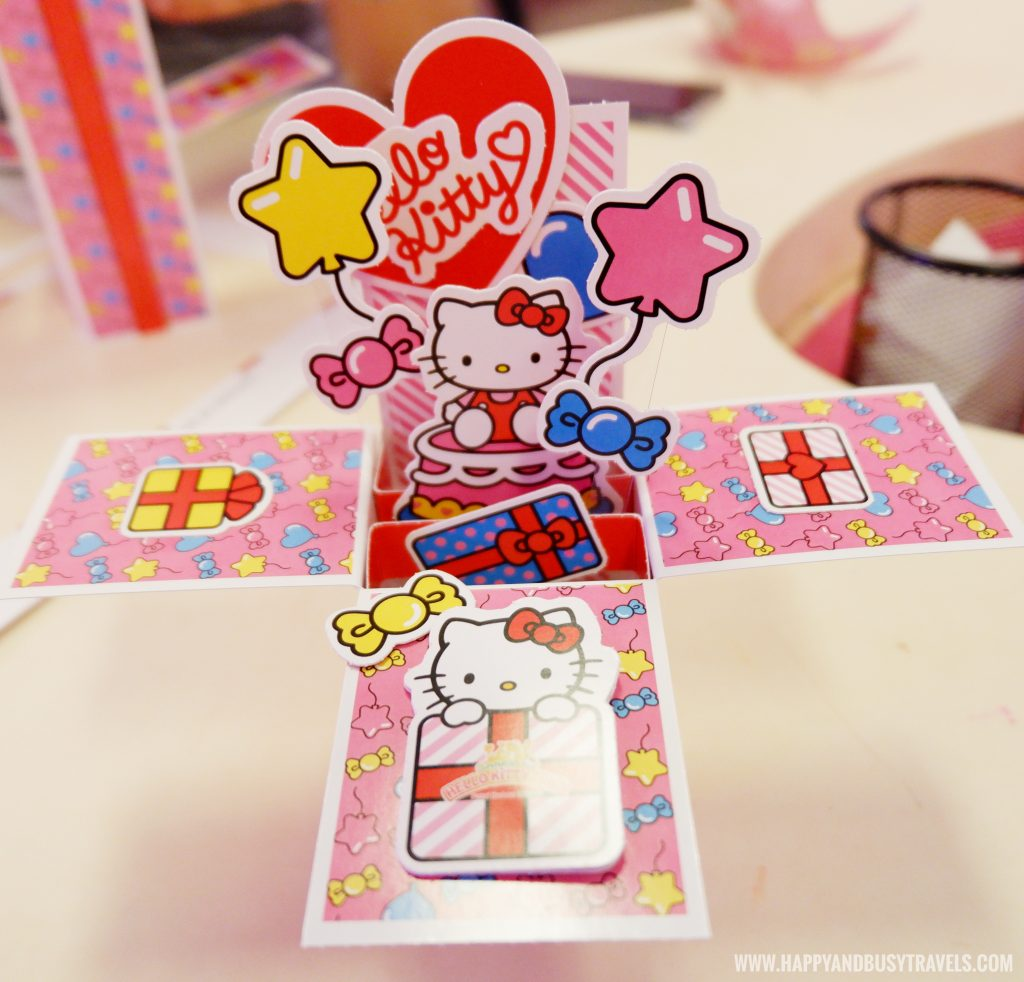 Happy's pop up box in Wishful Studio in Hello Kitty Town Puteri Harbour Johor Malaysia Happy and Busy Travels