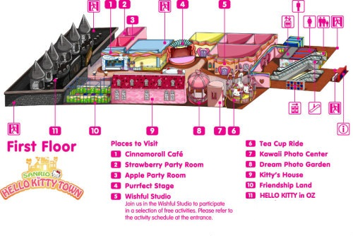 Map of Hello Kitty Town Puteri Harbour Johor Malaysia Happy and Busy Travels