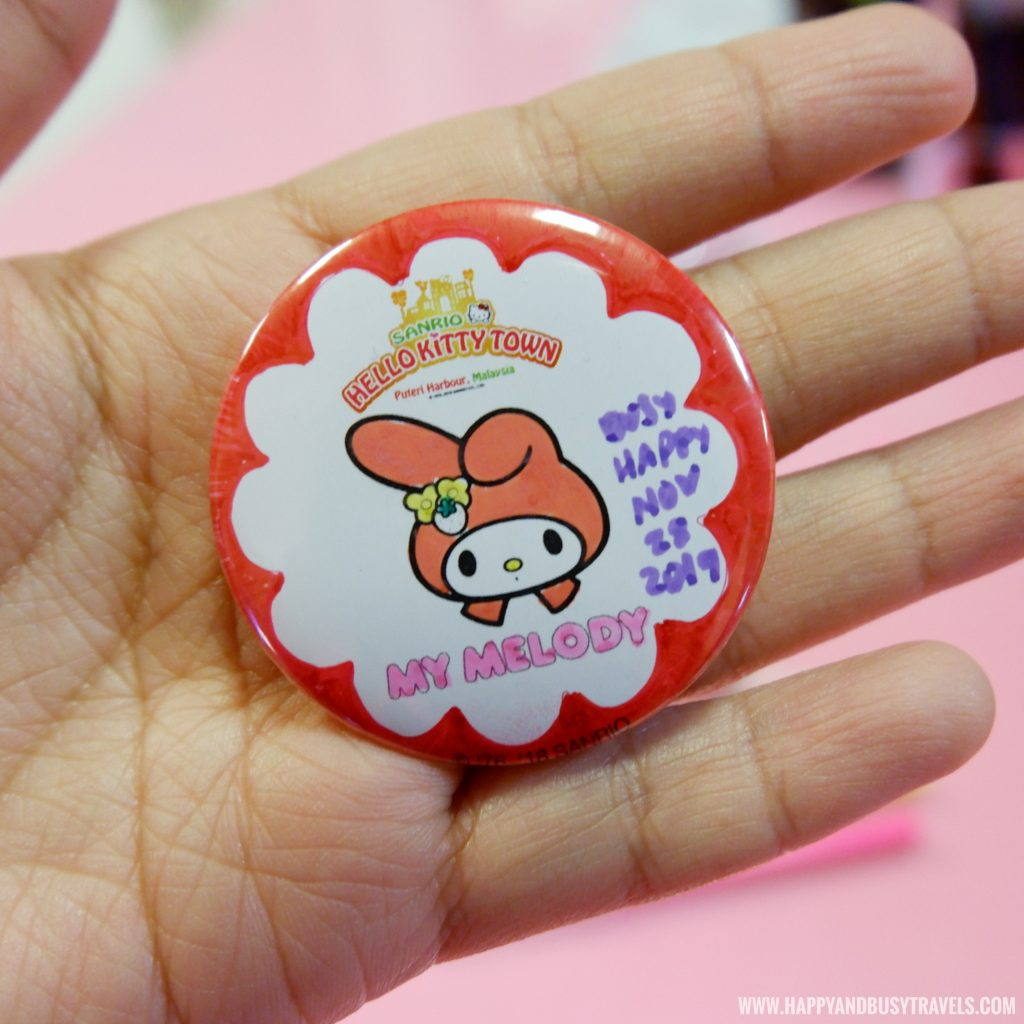 My melody pin making in Wishful Studio in Hello Kitty Town Puteri Harbour Johor Malaysia Happy and Busy Travels