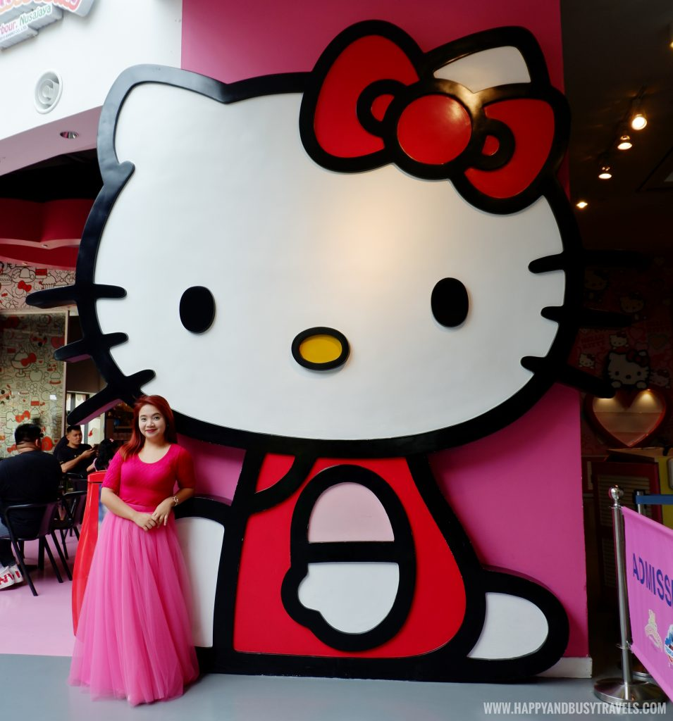 Big hello kitty in Red Bow Cafe Hello Kitty Town Puteri Harbour Johor Malaysia Happy and Busy Travels