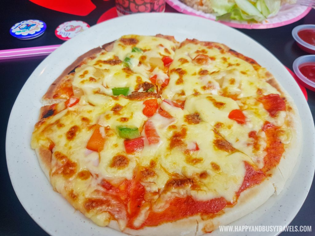 pizza in Red Bow Cafe Hello Kitty Town Puteri Harbour Johor Malaysia Happy and Busy Travels