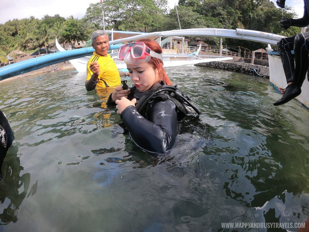 Introduction to Scuba Diving in Summer Cruise Dive Resort Batangas review of Happy and Busy Travels