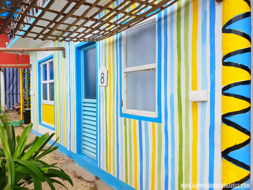 Colorful facade of the rooms in Summer Cruise Dive Resort Batangas review of happy and busy travels