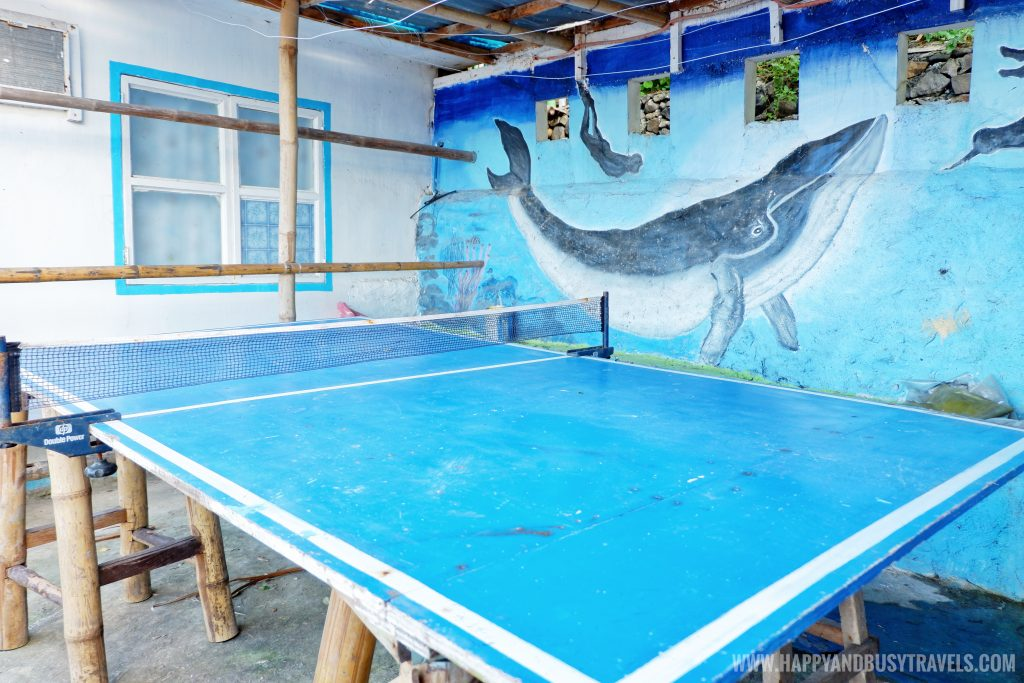 Table tennis in Summer Cruise Dive Resort Batangas review of happy and busy travels
