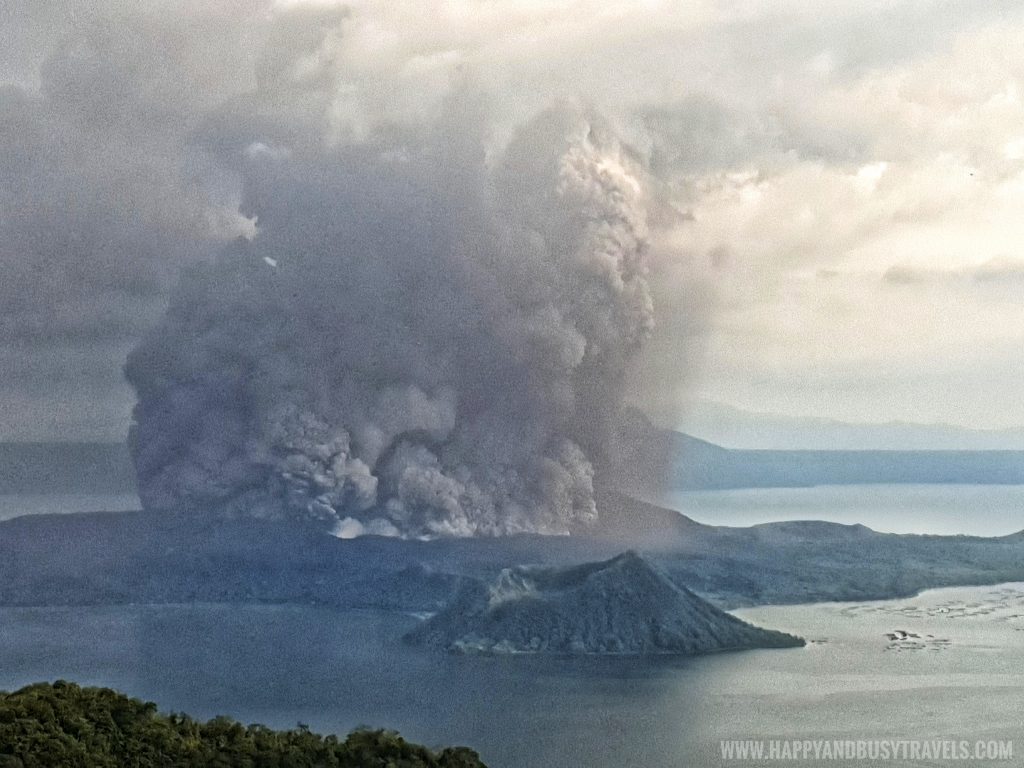 Taal Volcano Eruption January 12 2020 experience of Happy and Busy