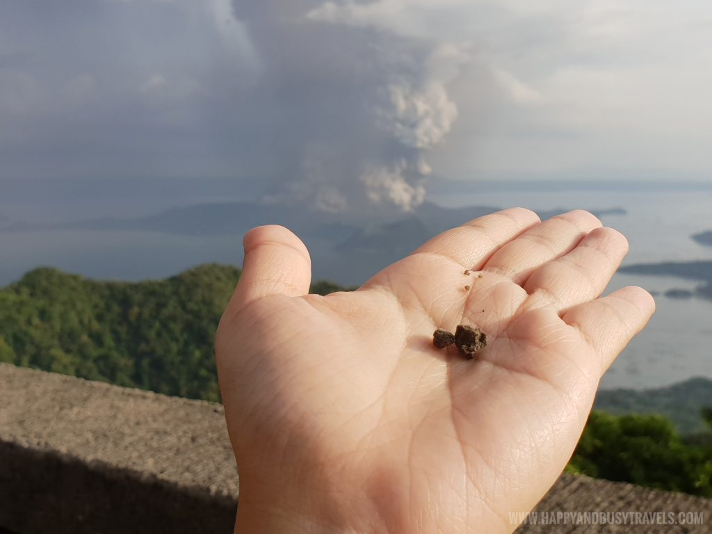 Small rocks from the volcano