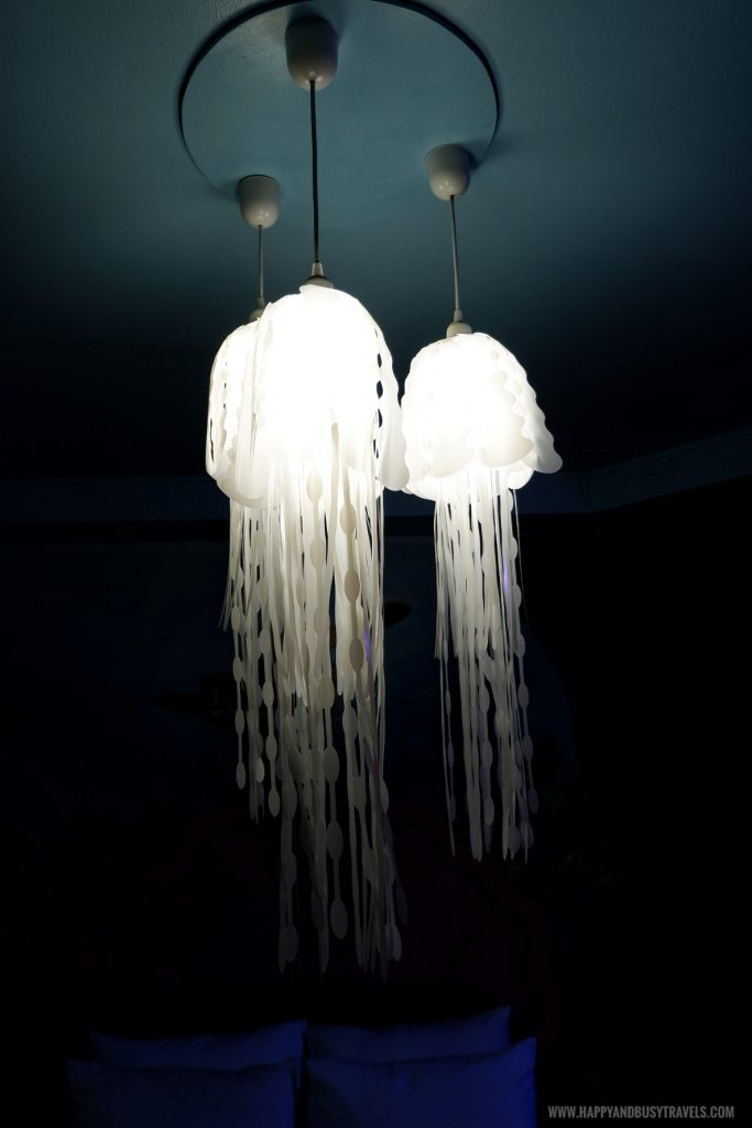 Jellyfish chandelier Atlantis room Bearseum Suites Hotel in Tagaytay Happy and Busy Travels review