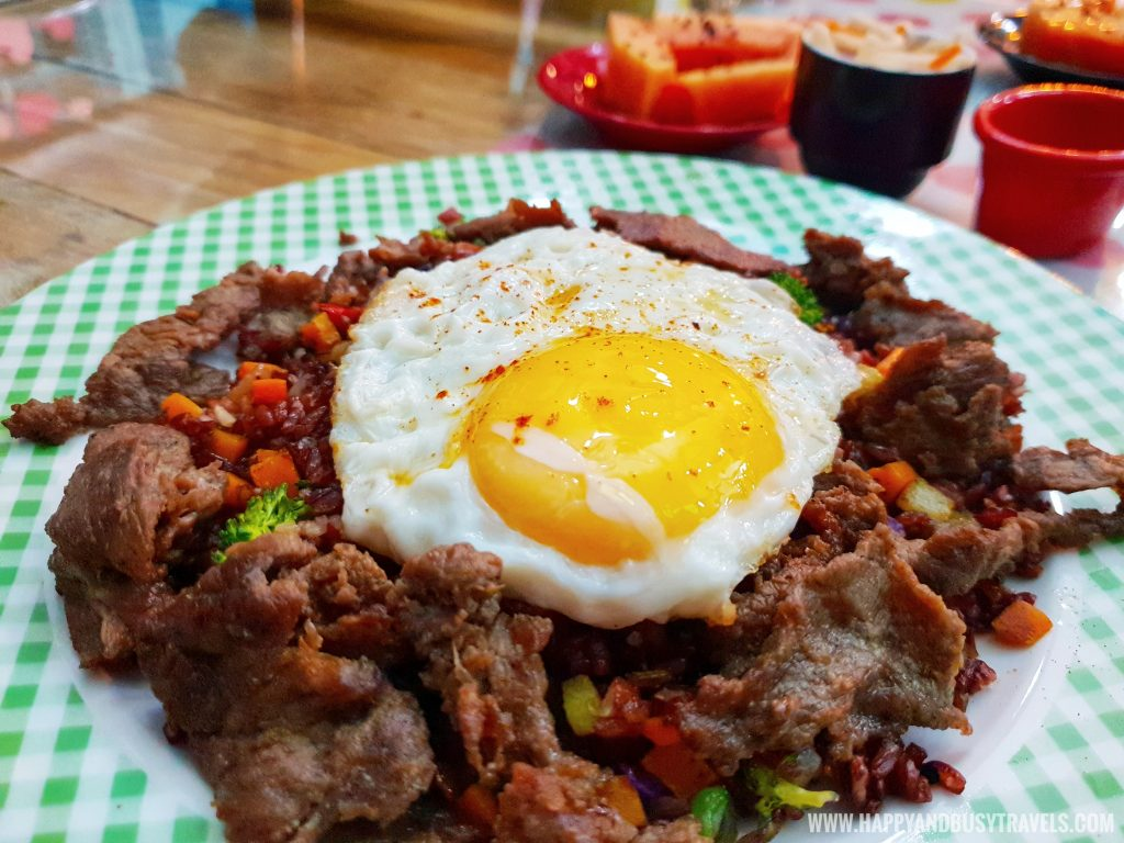Beef Tapa with Sunny Side up Egg and Brown Rice Kitchen food and dining Bearseum Suites Hotel in Tagaytay Happy and Busy Travels review