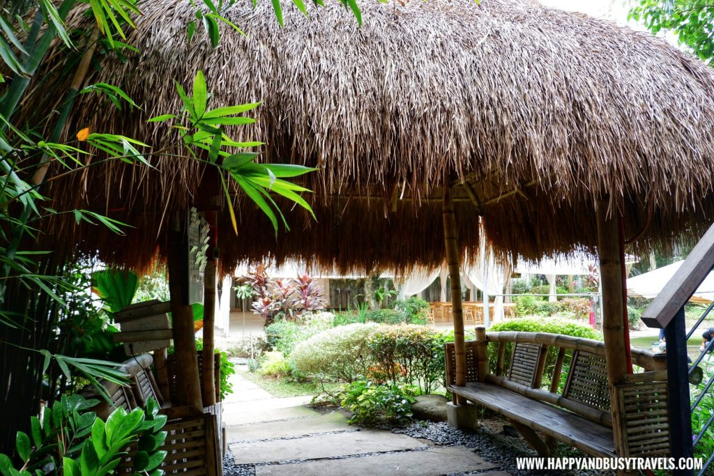 nipa hut outside Cafe Agapita Silang Cavite near Tagaytay Happy and Busy Travels Review