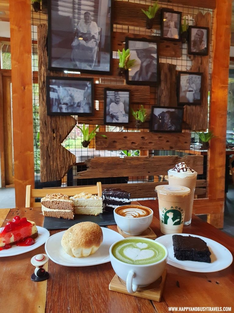 drinks cakes pastries of Cafe Agapita Silang Cavite near Tagaytay Happy and Busy Travels Review