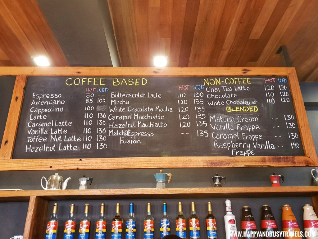 menu of Cafe Agapita Silang Cavite near Tagaytay Happy and Busy Travels Review