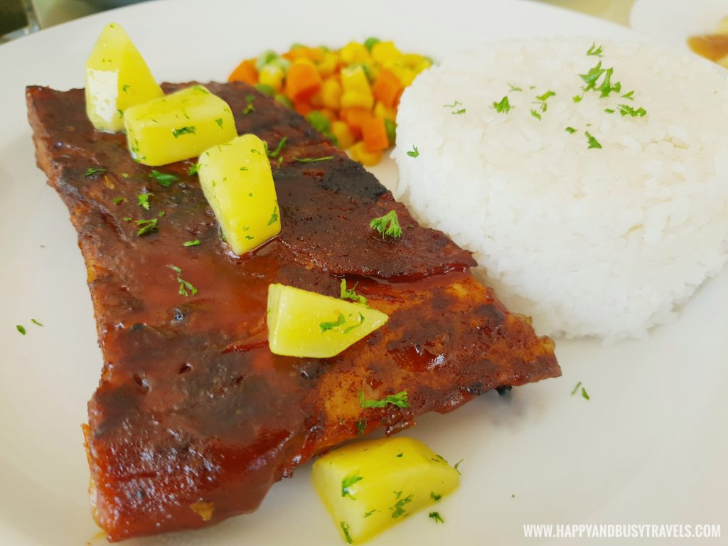 Baby back Ribs Estancia Resort Hotel Happy and Busy Travels to Tagaytay