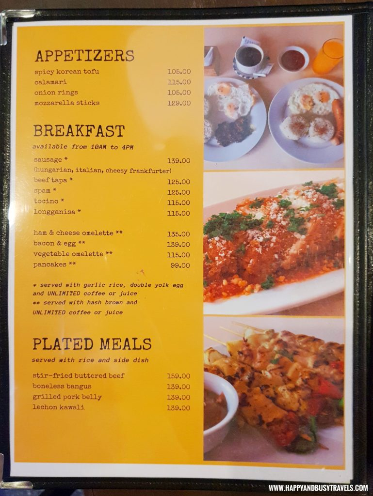 Menu Kopita Restaurant formerly Brunchers PTT piela - Happy and Busy Travels