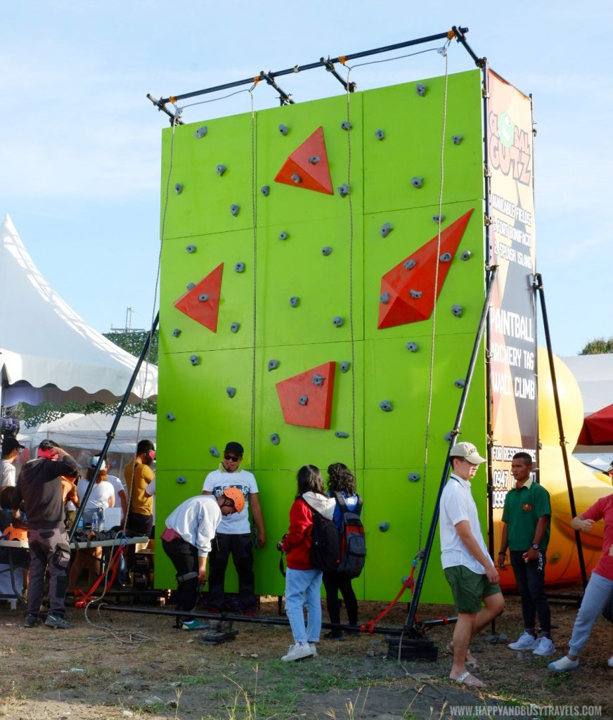 wall climbing activity in Philippine International Hot Air Balloon Festival Flying Carnival 2020 carmona cavite Happy and Busy review
