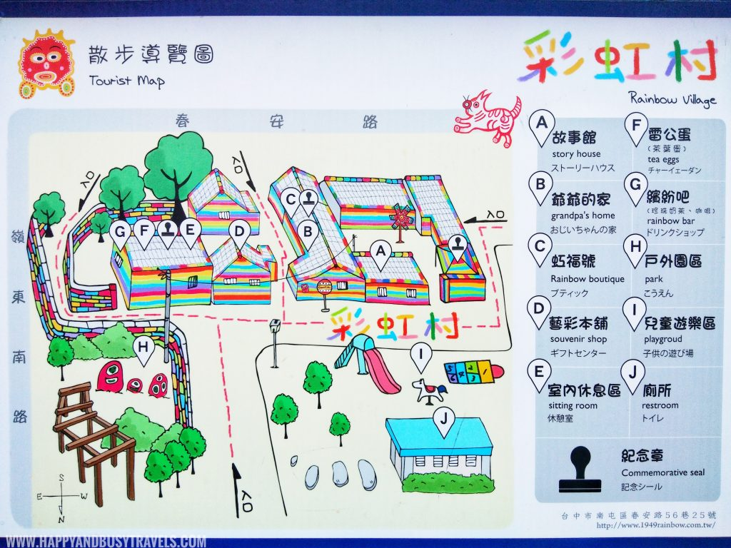 Rainbow Village map Taichung Happy and Busy Travels to Taiwan