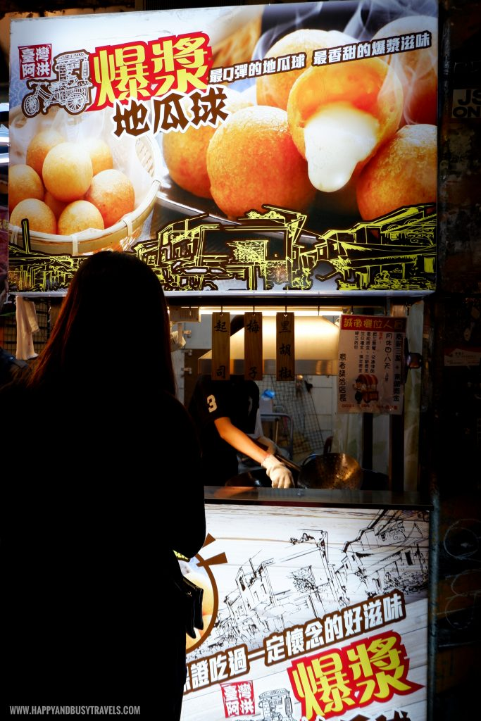 Sweet potato ball Shilin Night Market Food Trip Happy and Busy Travels to Taiwan