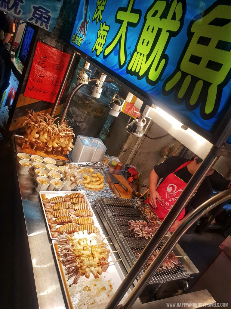 grilled squid Shilin Night Market Food Trip Happy and Busy Travels to Taiwan
