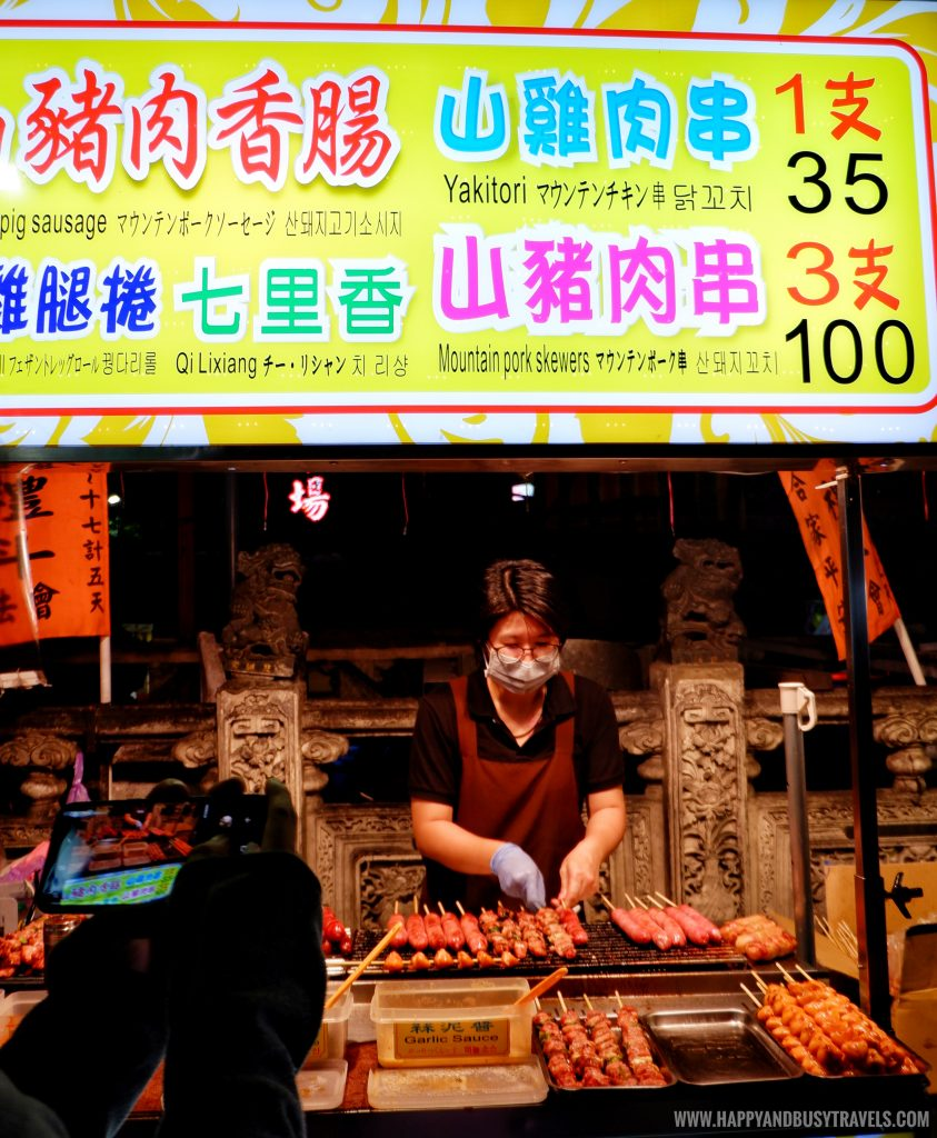 grilled meat Shilin Night Market Food Trip Happy and Busy Travels to Taiwan