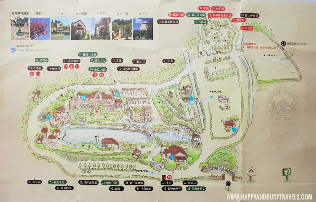Xinshe Castle Summit Resort map Taichung Happy and Busy Travels to Taiwan