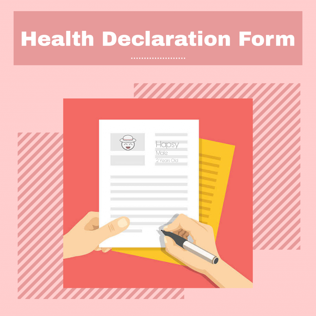 New Normal in Accommodations - health declaration form - Happy and Busy Travels