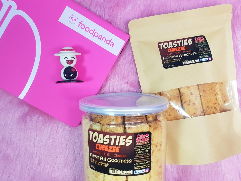 Foodpanda now in Cavite toasties cakes and cakes bakeshop Happy and Busy Travels Review