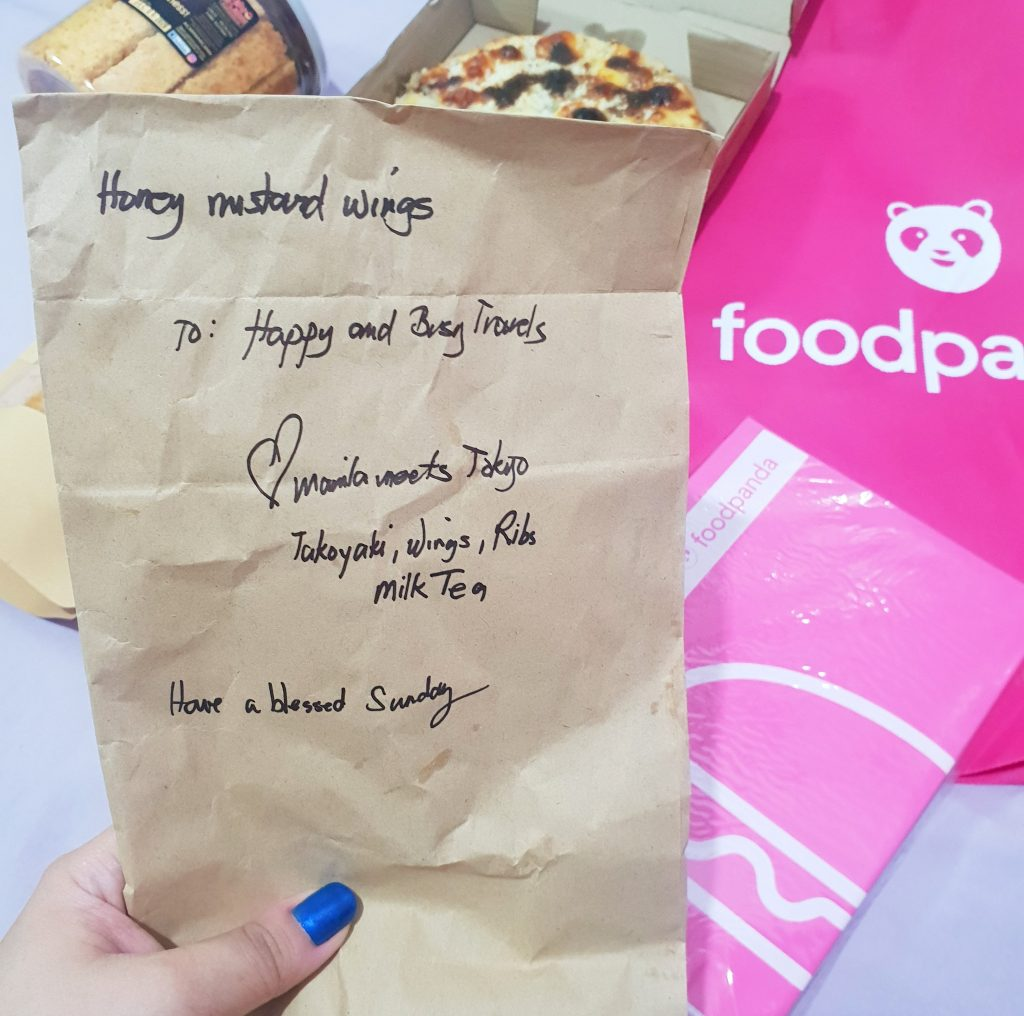 Foodpanda now in Cavite honey mustard chicken wings manila meets tokyo Happy and Busy Travels Review