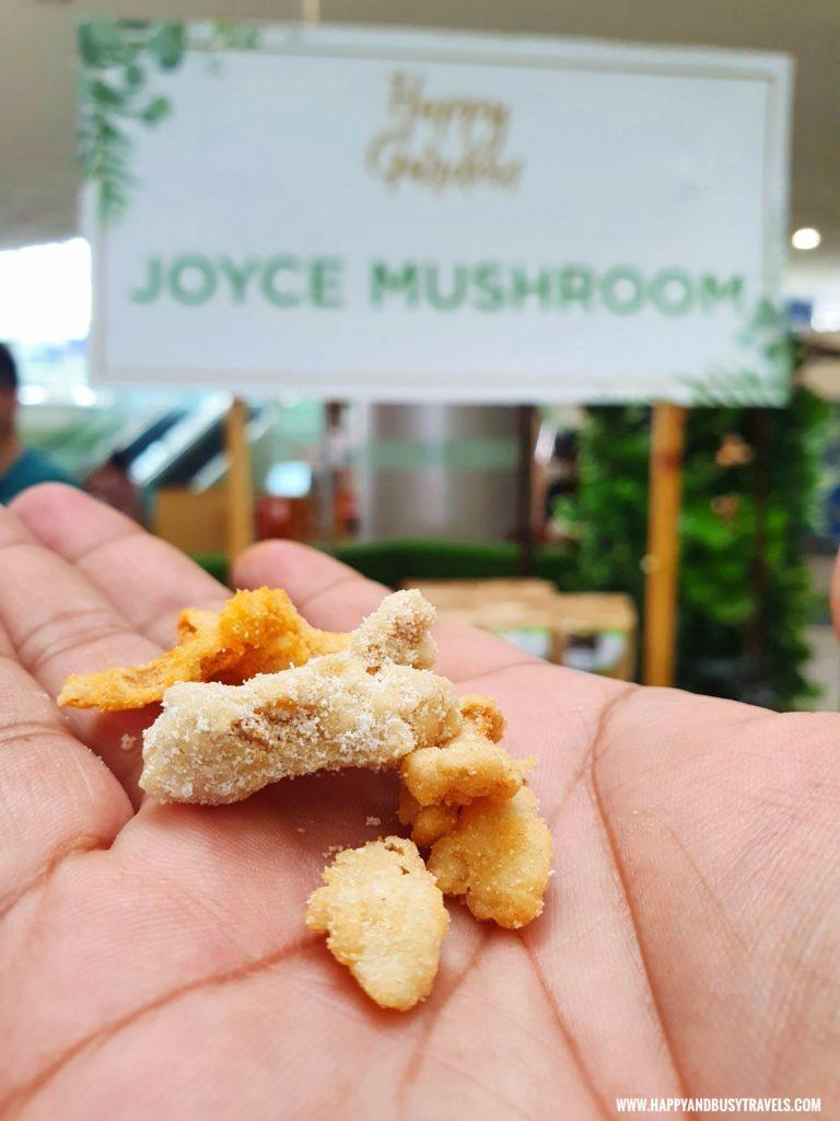 free taste sour cream and garlice crispy mushroom