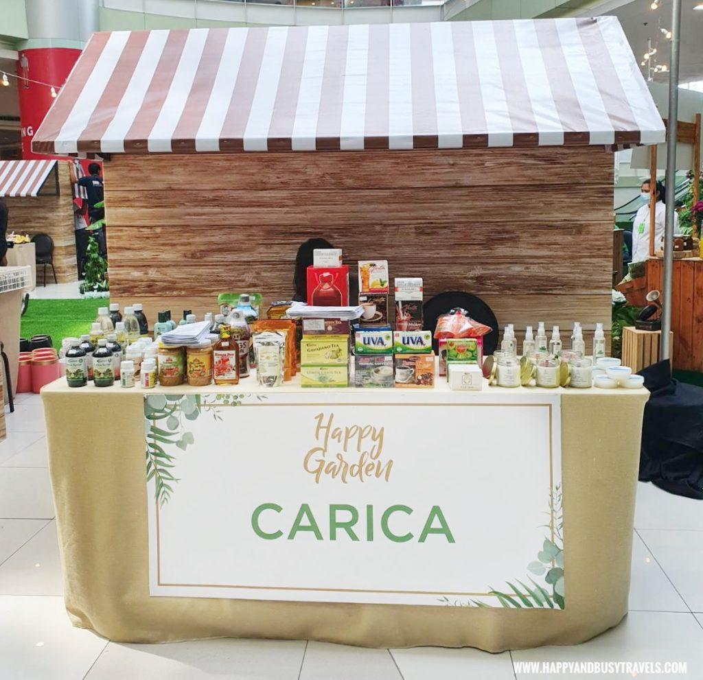 carica herbal health products Happy Garden SM Dasmarinas Cavite Plantito plantita plants expo and fresh produce happy and busy travels experience