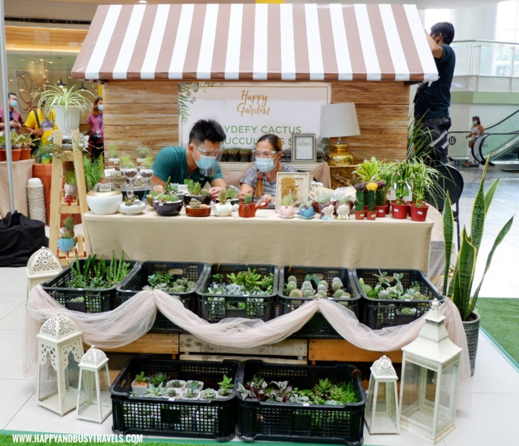 claydefy cactus and succulents store Happy Garden SM Dasmarinas Cavite Plantito plantita plants expo and fresh produce happy and busy travels experience