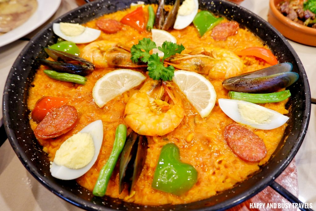 Paella Valenciana Galli Spanish Restaurant Tagaytay - Happy and Busy Travels Review