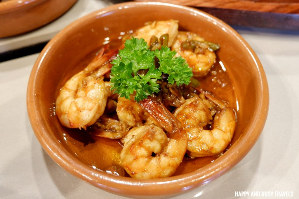 Shrimp Gambas Galli Spanish Restaurant Tagaytay - Happy and Busy Travels Review
