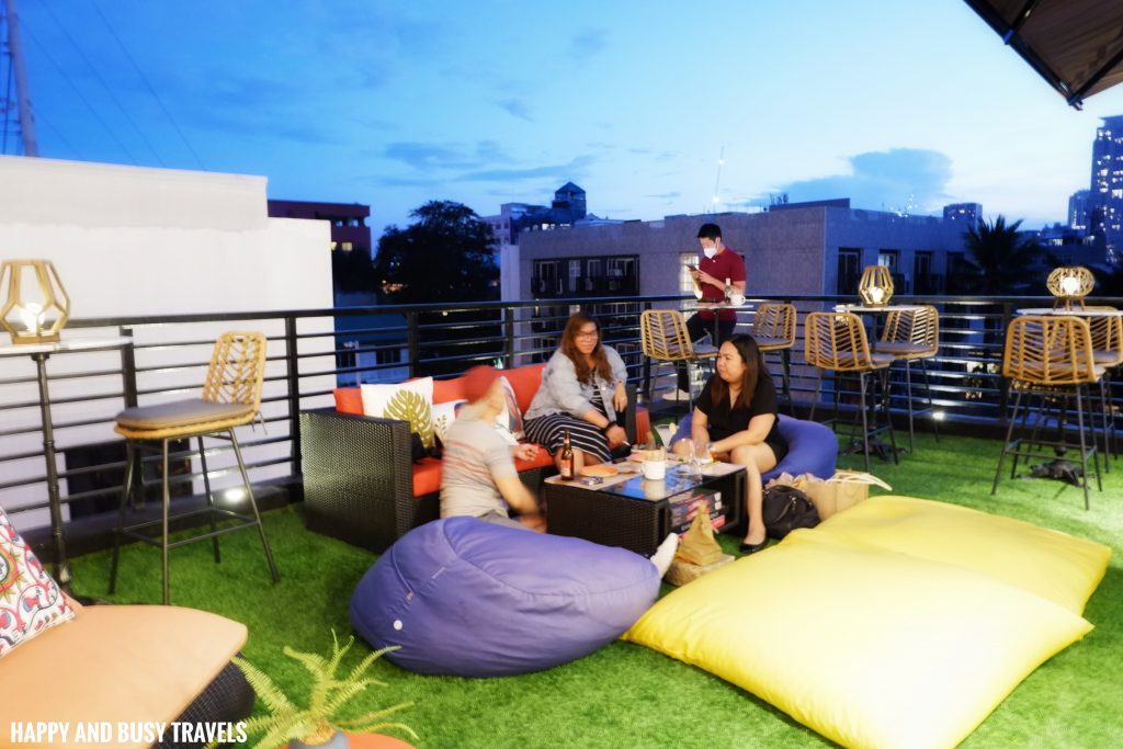 roofdeck Unwnd Lux Hostel Poblacion Makati - Happy and Busy Travels review