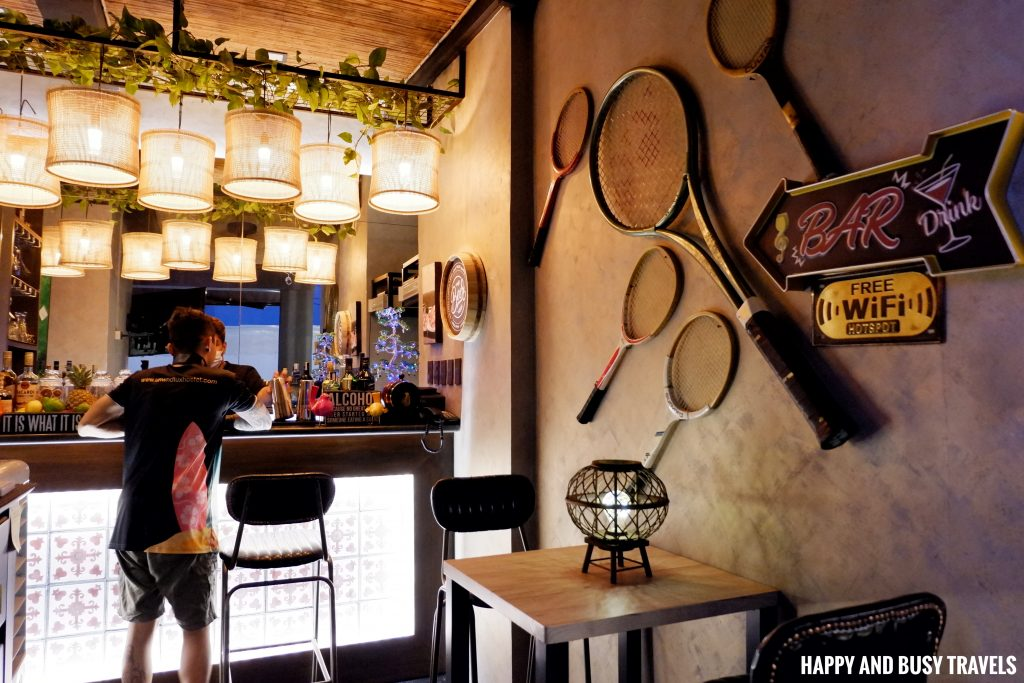 bar at the roofdeck Unwnd Lux Hostel Poblacion Makati - Happy and Busy Travels review