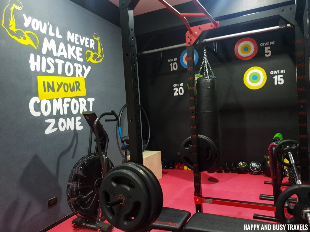 gym Unwnd Lux Hostel Poblacion Makati - Happy and Busy Travels review