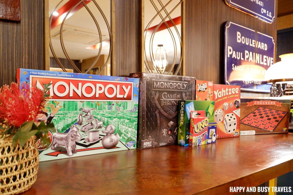 Board Games Unwnd Lux Hostel Poblacion Makati - Happy and Busy Travels review