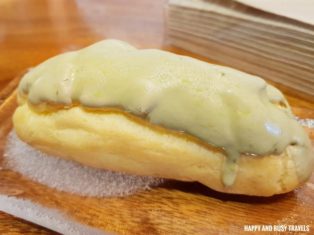 Matcha Eclair Himawari Specialty Coffee Silang Tagaytay - Happy and Busy Travels Review