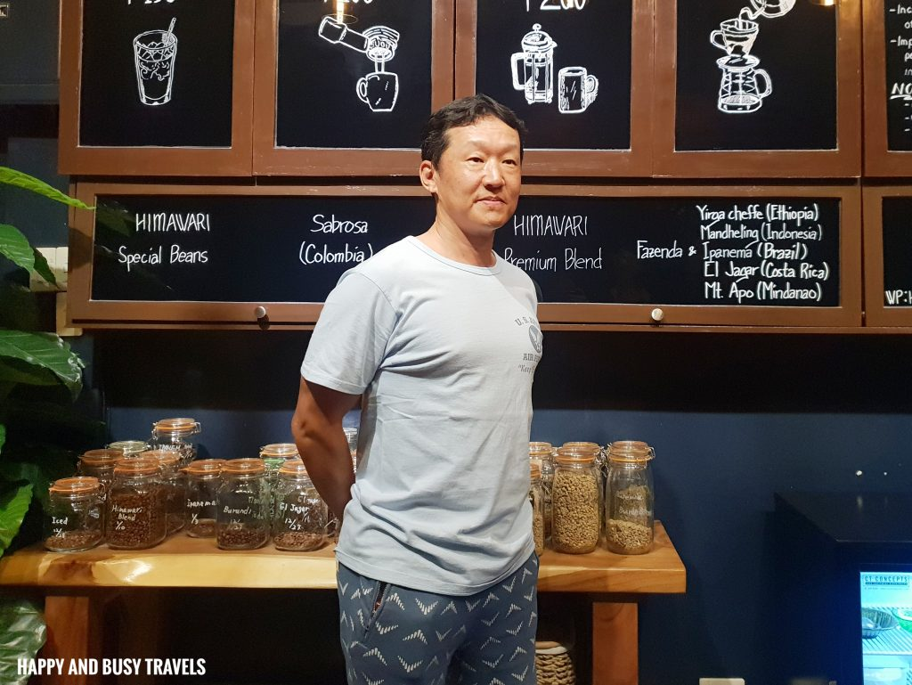 Yutaka Shinozaki Himawari Specialty Coffee Silang Tagaytay - Happy and Busy Travels Review
