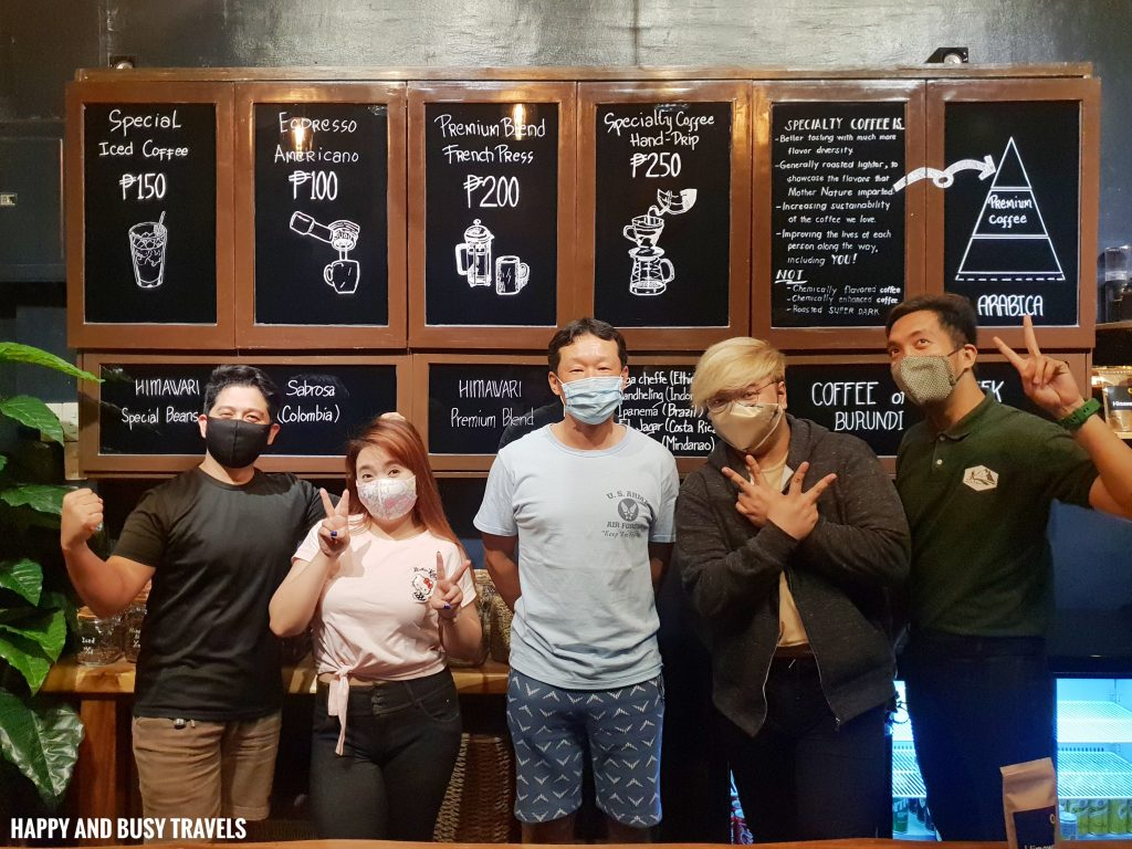 South Bloggers Himawari Specialty Coffee Silang Tagaytay - Happy and Busy Travels Review