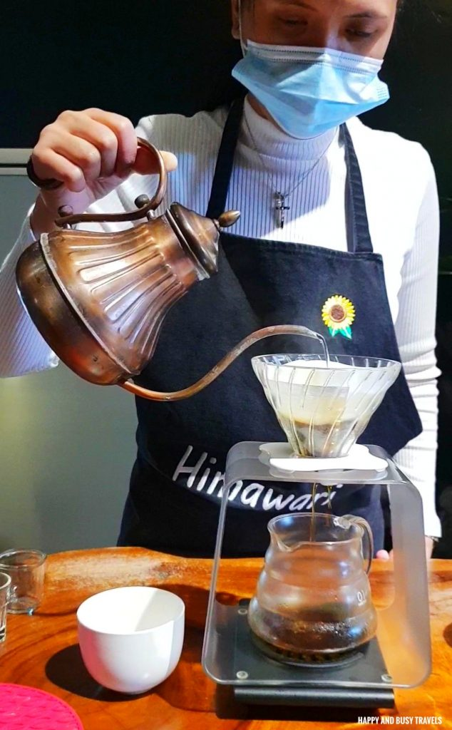 coffee drip Himawari Specialty Coffee Silang Tagaytay - Happy and Busy Travels Review