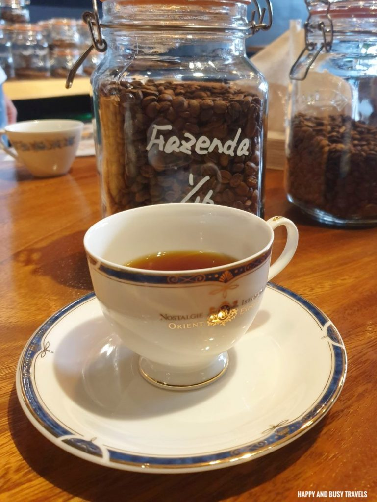 fazenda brazil beans Himawari Specialty Coffee Silang Tagaytay - Happy and Busy Travels Review
