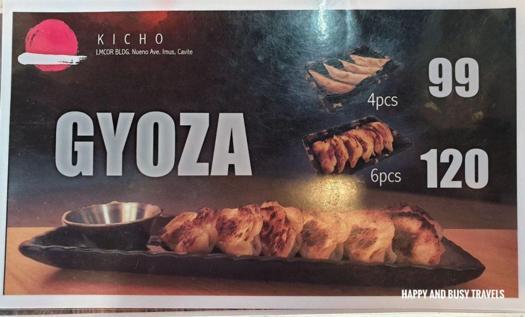 Kicho Japanese Yatai Food Ramen Takoyaki menu - Happy and Busy Travels to Imus Cavite