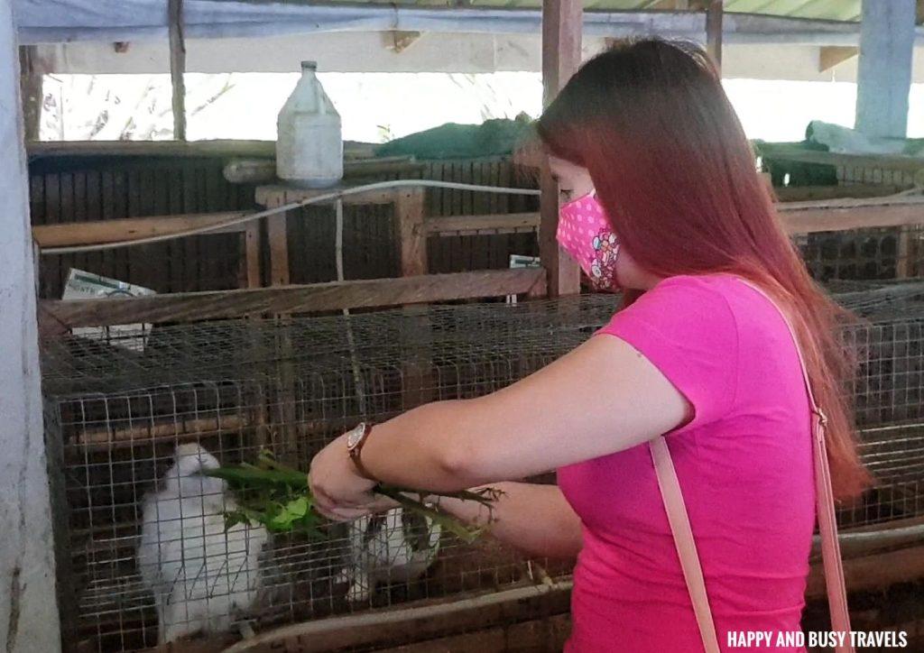 rabbit feeding farm tour Farm T House block house - Happy and Busy Travels to Cavinti Laguna