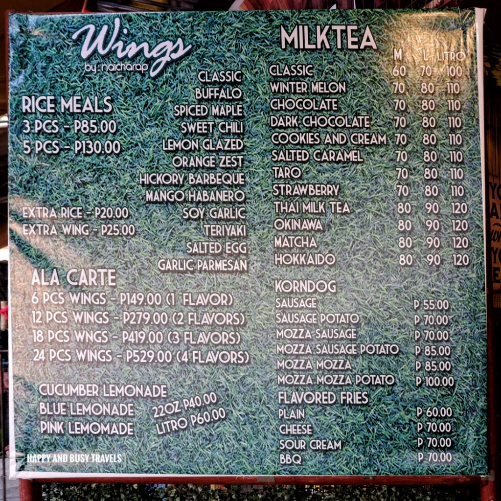 menu Nai Cha Rap Milk Tea Bacoor - Happy and Busy Travels to Cavite