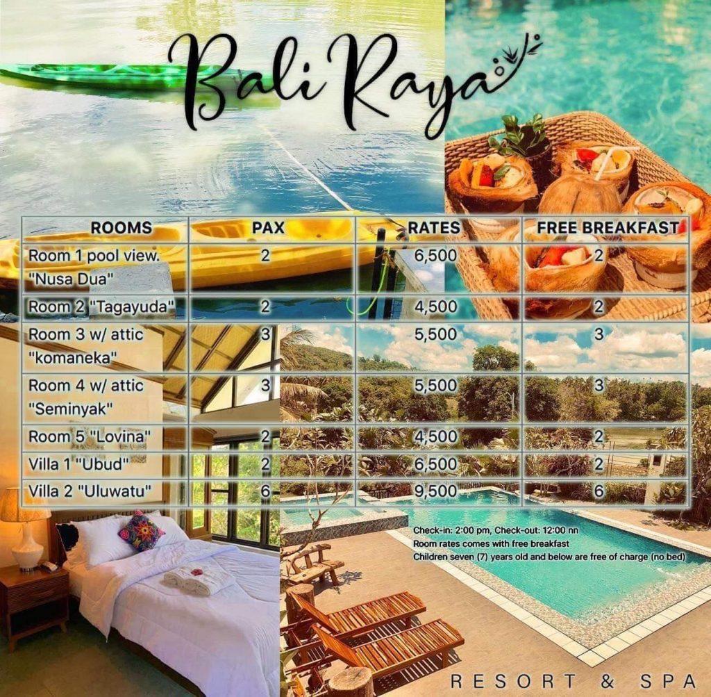 Baliraya Resort and Spa Laguna Room rates - Happy and Busy Travels