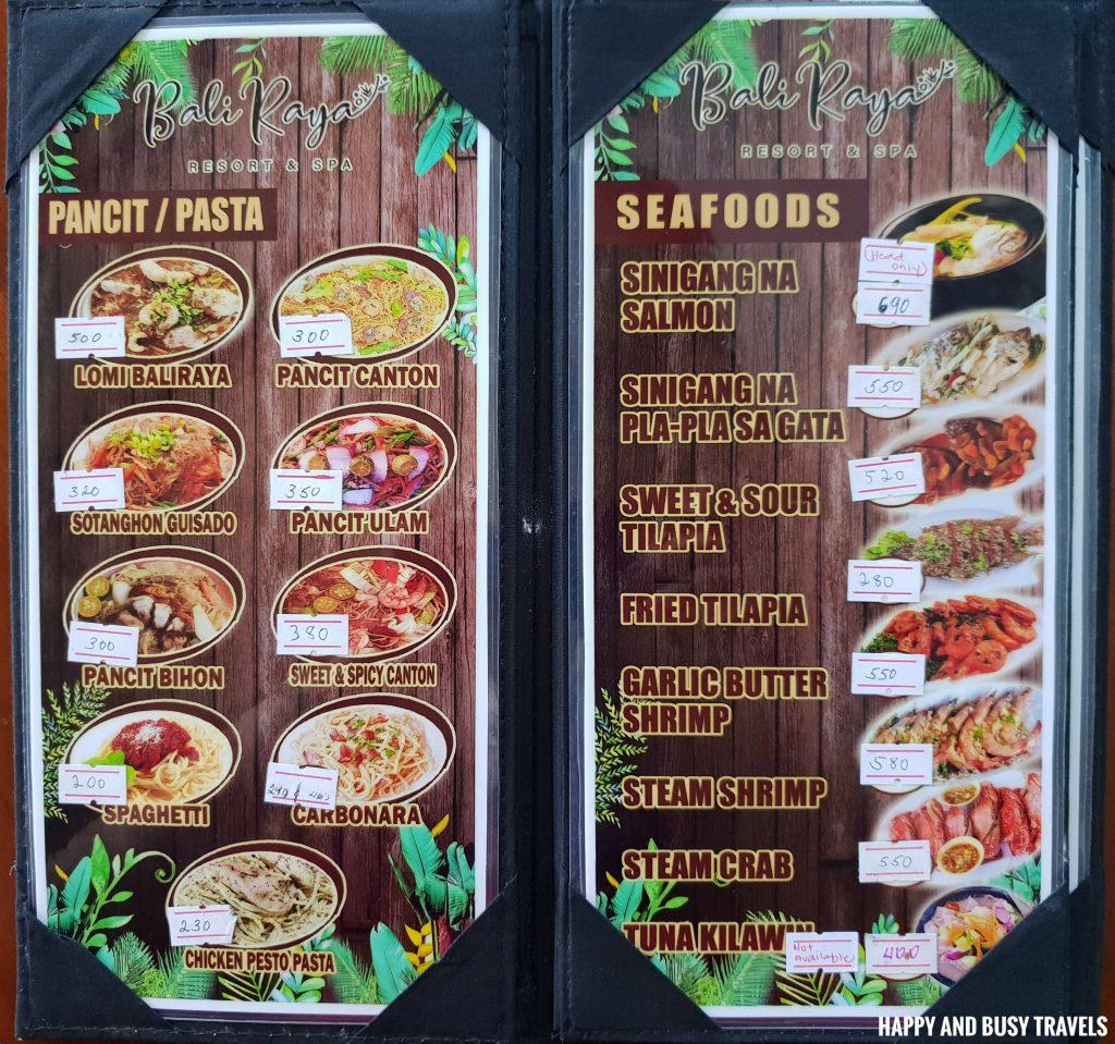 Baliraya Resort and Spa 58 - menu - Happy and Busy Travels to Laguna