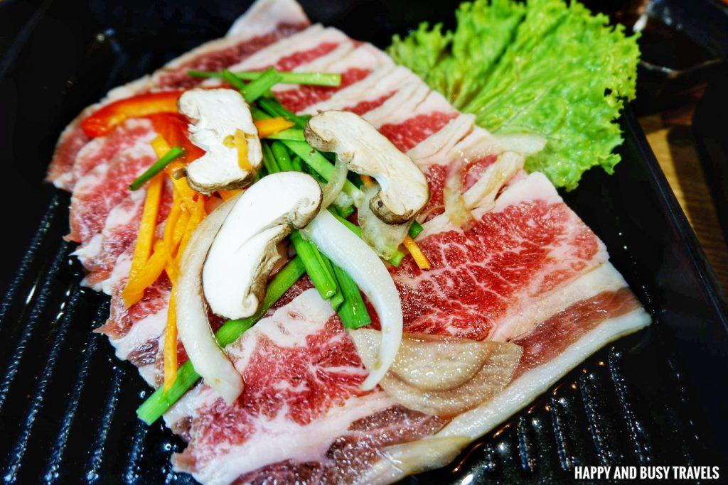 Beef samgyupsal Jin Joo Korean Grill - Happy and Busy Travels