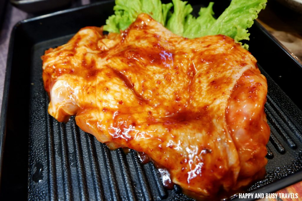 Spicy Chicken samgyupsal Jin Joo Korean Grill - Happy and Busy Travels